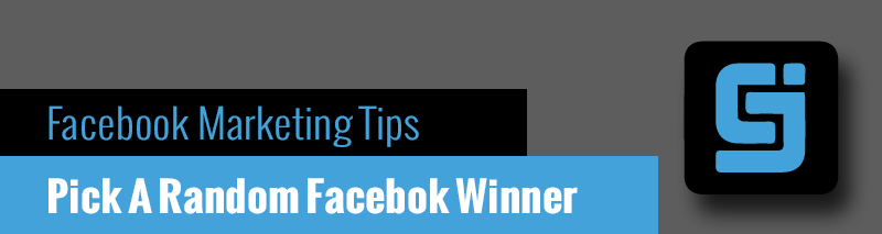 how to randomly choose a winner on facebook
